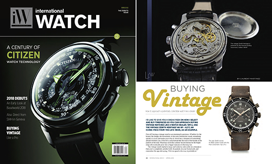 iW - international Watch Spring 2018 - Buying Vintage
